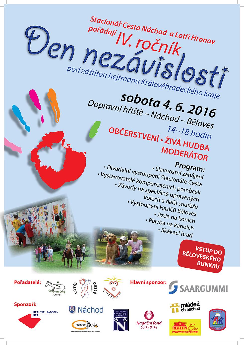 Den nezávislosti - 4.6.2016, dopravní hřiště Náchod - Běloves
